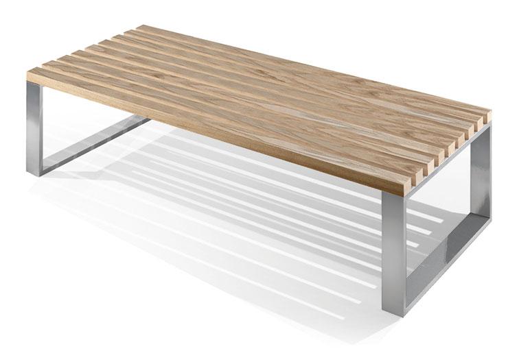 fitness banc bois et acier panka. Black Bedroom Furniture Sets. Home Design Ideas