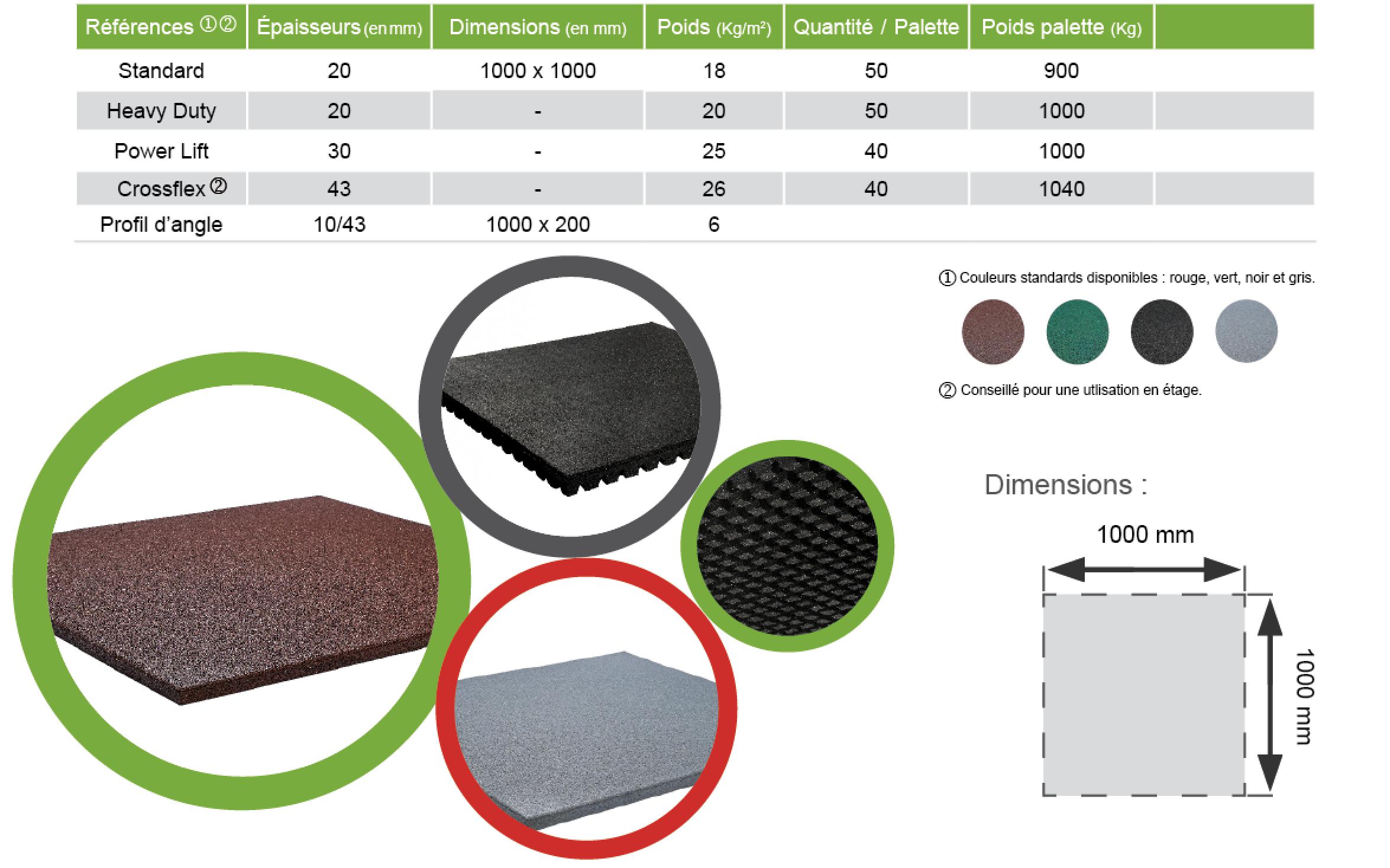 crossflex crossflex grande dalle de sol sportif. Black Bedroom Furniture Sets. Home Design Ideas